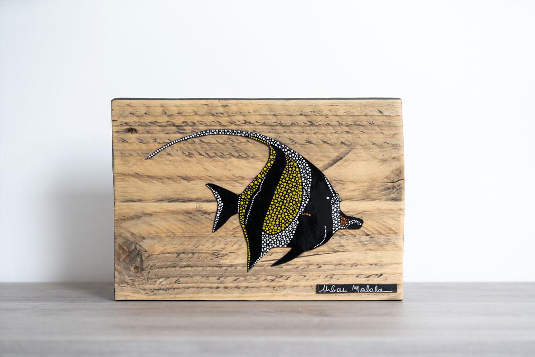 tableau en bois-poisson